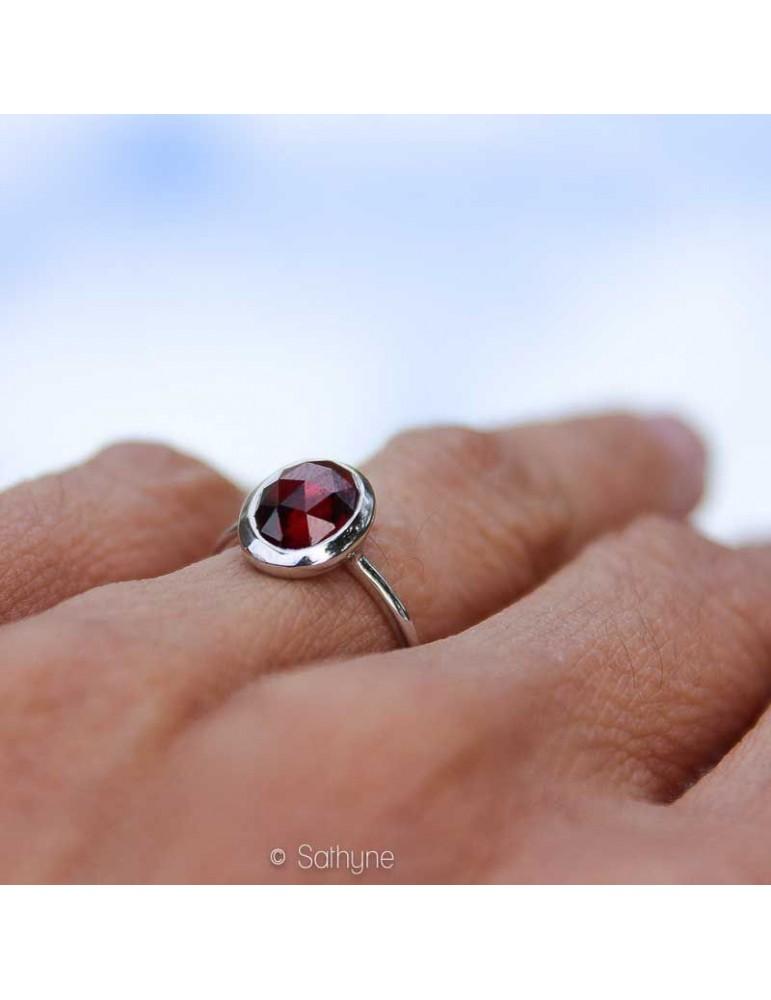 Arizona, rhodium, rosecut ring