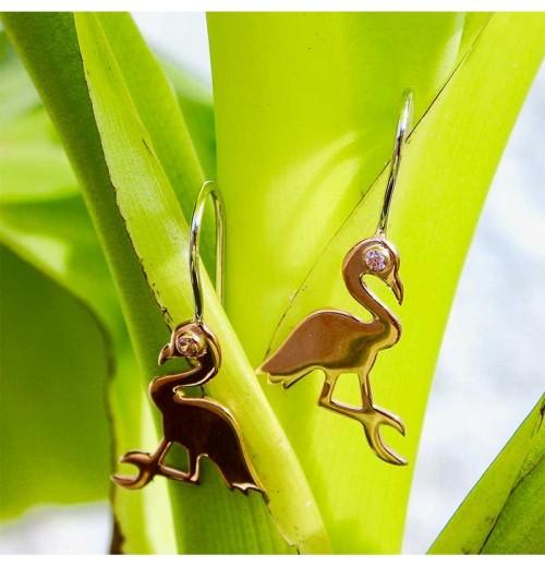 Boucles d'oreilles Flamingo