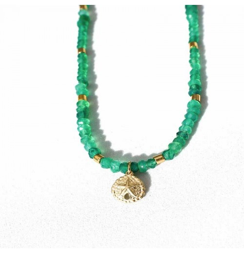 sand dollar emeralds necklace