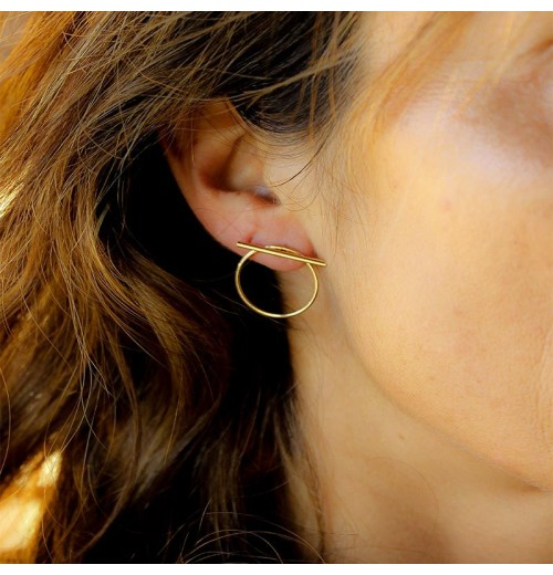 Saturne Earrings gold plated sathyne