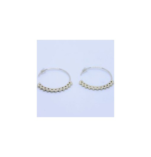 Camille Hoops gold plated