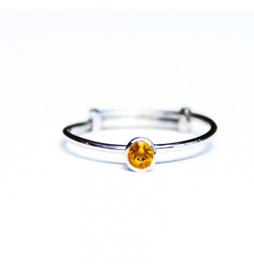 Bague, Single, Citrine