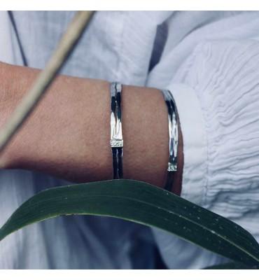 Bracelet argent péridot,sathyne