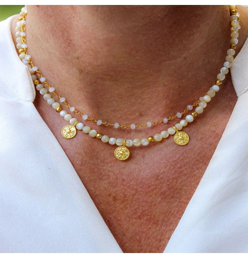 Mother of pearl, necklace