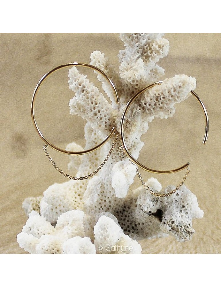 Gold plated Emilie HOOPS sathyne