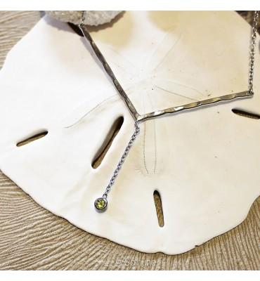 necklace peridot, silver