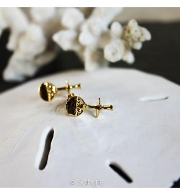 Boucles d'oreilles, Ashanti, or