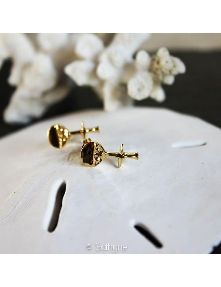 Ashanti earrings gold silver sathyne