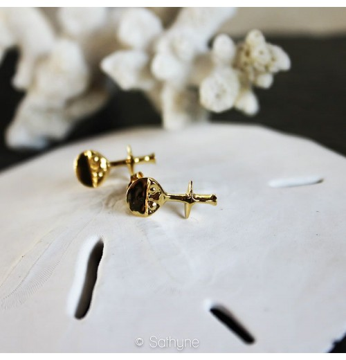 Boucles d'oreilles Ashanti argent or sathyne