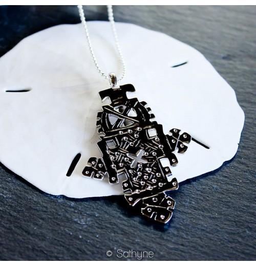 Croix éthiopienne, croix de kobé, bijou ethnique, sathyne