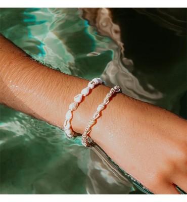 bijoux, coquillages, bracelet, sathyne