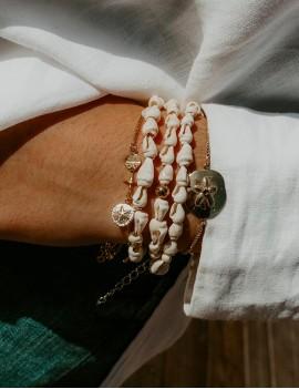 Bracelet, poupée Ashanti, or