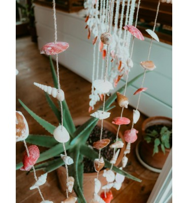 rideau de coquillages extérieur décoration sathyne
