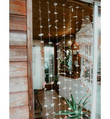 rideau de coquillages décoration extérieur sathyne