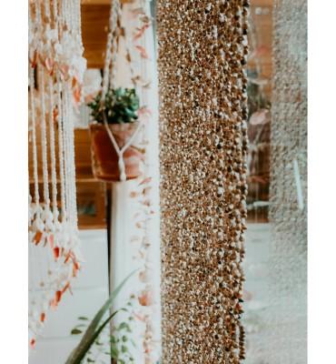 rideau de porte coquillage sathyne