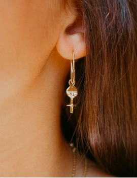 boucles d'oreilles akua ba, poupée Ashanti