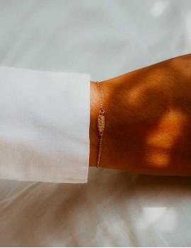 bracelet, pendentif tiki or jaune, sathyne