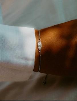 bracelet réglable, bijoux, tiki argent, sathyne