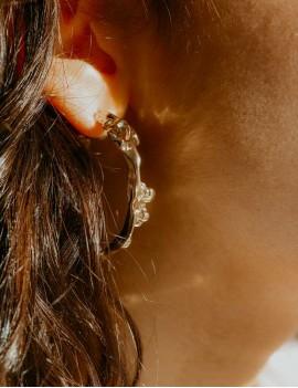 créoles dorées, sathyne bijoux