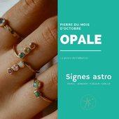 La pierre du mois d'octobre est l'opale, une pierre qui possède de nombreuses vertus , elle est très bénéfique aux signes astrologiques vierge, gémeaux , poisson et cancer. C'est la pierre porte-bonheur de la balance.  .  .  .  #sathyne #marquefrancaise #bienfaitsdespierres #opal #bijouxcreateurenligne #shoppingenligne