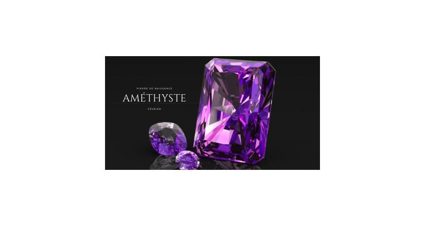 Améthyste, pierre de Février